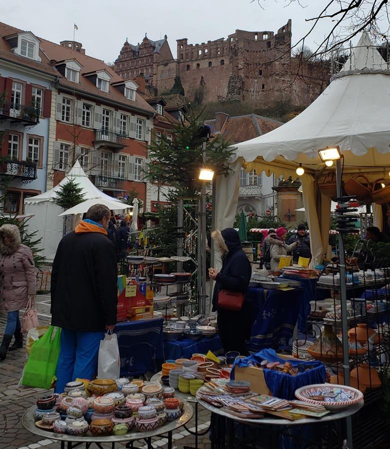 Heidelberg Castle and the Christmas Market