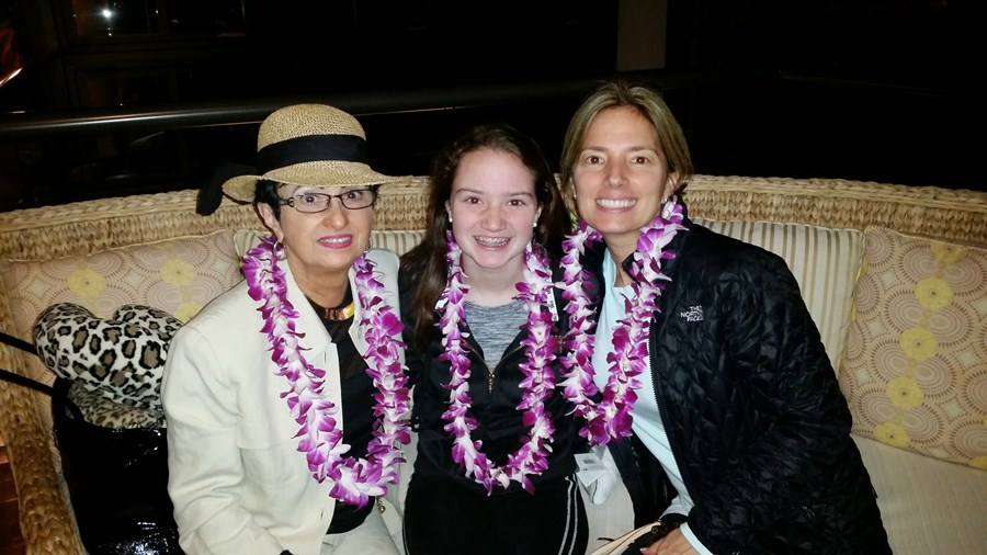 Aloha from Maui with my Mom & niece, Kate