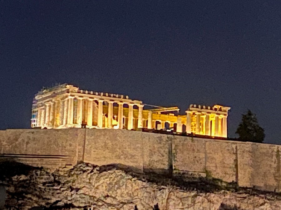The Parthenon at Night