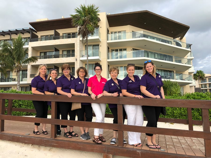 Me and colleagues at Royalton Riviera Cancun!