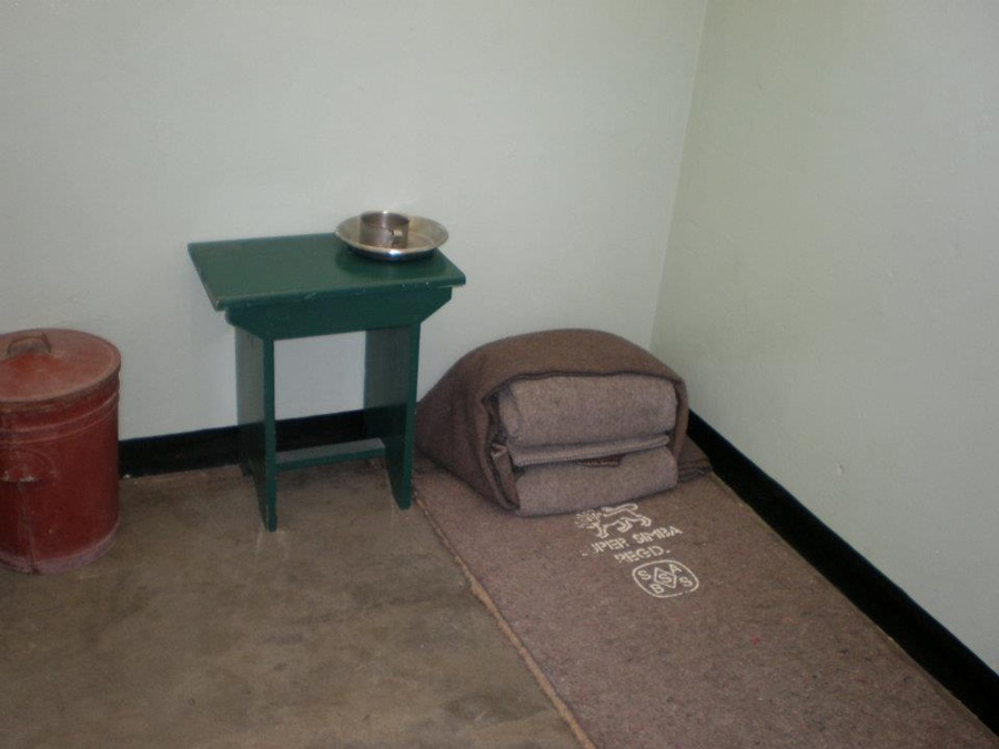 Interior of Mandela's Cell