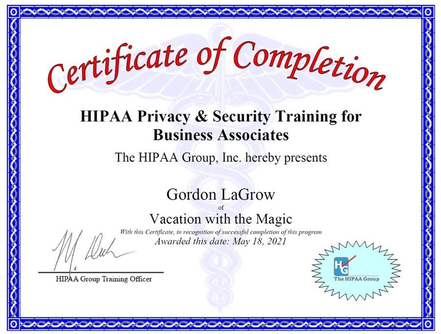 Business Associate - HIPAA Compliance Officer