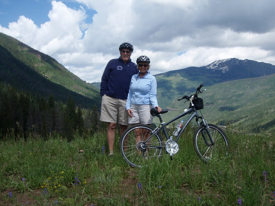Biking from Vail Pass to Village: 2k ft downhill..
