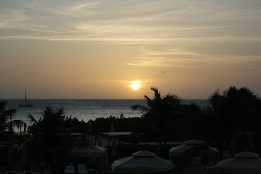 sunset at Ritz Carlton Aruba