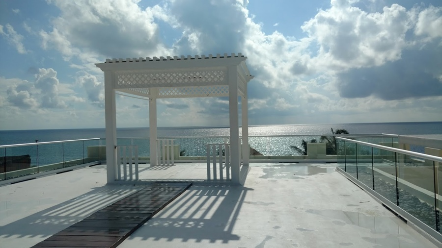 Rooftop wedding location at Azul Beach Resort