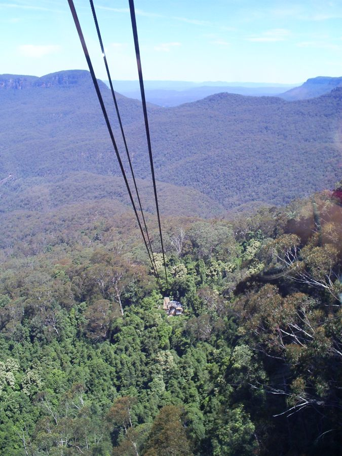 Cable car over Blue Mountains