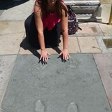 In front of the Chinese Theatre