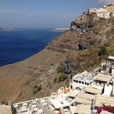 The Island of Santorini in Greece