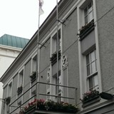The Kilarney City Hall fly both flags