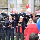 30 member chorus sang 3 verses of US Natl Anthem