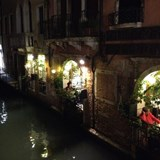 Gourmet dining along the canals in Venice