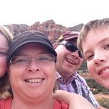 Family Rock climbing in Sedona