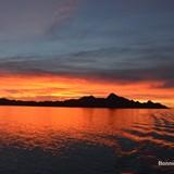 Morning sunrise on the sea of Cortez