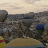 The fairy houses of Cappadocia below.