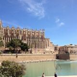 The beautiful Cathedral in Palma de Mallorca, Spai