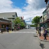 one of Bar Harbor's main streets