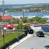 A view of the Halifax port from the Citadel