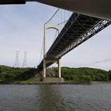 cruising under bridges of the St Lawrence