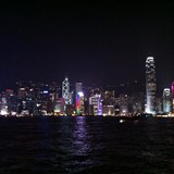 Nighly light show in Hong Kong