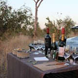 Sundowners after an afternoon game drive.