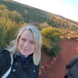 Enjoying watching the sunrise over Uluru Australia
