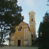 Church in the town of Eze