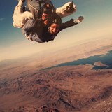 Skydiving over the Mojave dessert