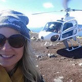 Heli trip to the top of a volcano in New Zealand