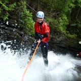 Canyoning in Charlevoix, Quebec