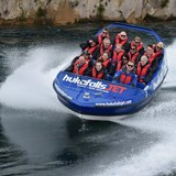 Taking a ride on the Huka Falls Jet Boat