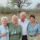 ENOYING A SUNDOWNER WITH FRIENDS IN BOTSWANA