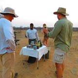 Chatting about the nightly game drive
