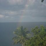 Late Afternoon Rain and Rainbow