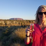 Champagne at Sunset at the base of Uluru