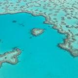 Seaplane flight over Heart Reef, Australia