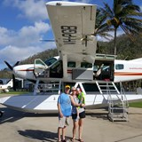 My boys & our sea plane flight over the  reef