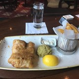Enjoy an Authentic Pub Lunch of Fish & Chips.