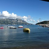 View from our lunch spot in Budva, Montenegro