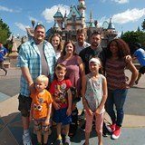 Disneyland California with my family