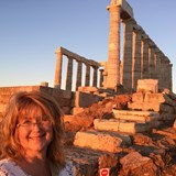 Cape Sounion at sunset
