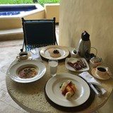Breakfast delivered and served on our terrace