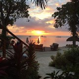 beautiful sunset in Negril