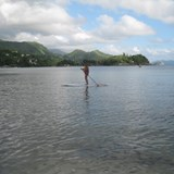 Paddleboarding in the Seychelles