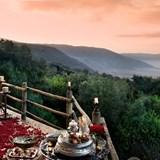 Romantic dinner set up in Rwanda.