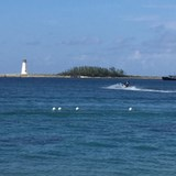 Jet ski on a beautiful afternoon in the Bahamas