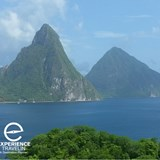 Famous Pitons from Jade Mountain Resort St. Lucia