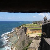 View from the Sentry Box in San Juan, Puerto Rico