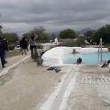 Natural hot thermal spring at Terme del Bacucco