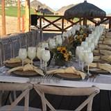 WEDDING TABLE SET UP AT SECRETS LOS CABOS