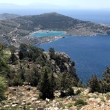 Overview of the Greek Island of Symi.